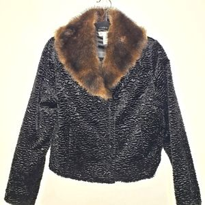 White House Black Market Faux Fur Jacket
